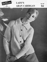 vintage aran ladies jacket knitting pattern