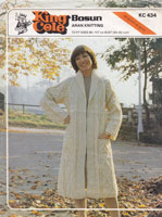 vintage aran ladies coat knitting pattern