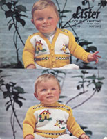 vintage baby knitting pattern lee 8819 baby jumper set lee target 8819