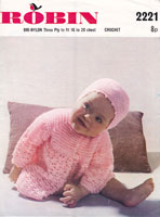 crochet baby matinee coat patterns