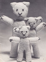 knitted teds knitting patterns