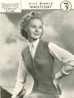 vintage ladies waistcoat knitting patterns
