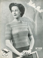 vintage jumper knitting patterns