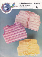 vintage crochet and knitting pattern little tops 1960s
