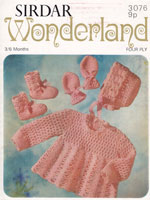 vintage baby crochet dress set pattern 1970
