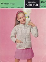 vintage childs crochet cardigan pattern 1969
