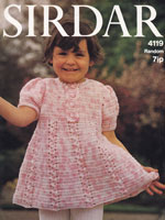 vintage baby dress crochet pattern 1970