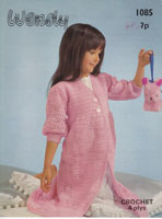 vintage childs dressing gown crochet patterns