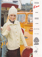 vintage aran jacket knitting pattern for ladies