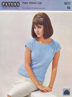 vintage ladies knitting pattern summer dress 1960