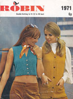 vintage ladies summer waistcoats ladies knitting pattern 1970s