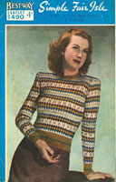 ladies fair isle knitting patterns
