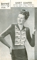 fair isle ladies jumper knitting pattern