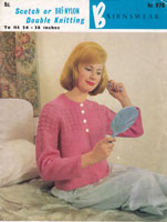 vintageladies bedjacket knitting patterns