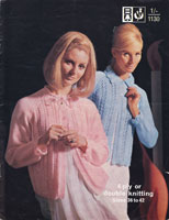 vintage bed jacket knitting patterns 1960s