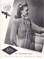 vintage ladies bed jacket knitting patterns 1940s