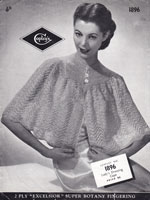 cintage knitting pattern for ladies bed jacket 1940s