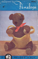 vintage bear knitting pattern 1950