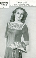vintage fair isle knitting pattern