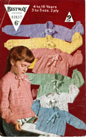 vintage childrens bed jackets knitting pattern