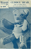 vintage sewing pattern foir toy bear