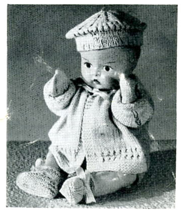 dolls clothes knitting patterns, toy knitting patterns, vintage