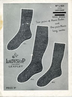 vintage socks knitting pattern