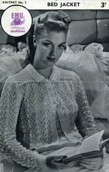 Vintage Bed Jacket Sweater Shrug Knitting PATTERN