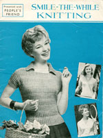 vintage ladies jumper knitting pattern booklet