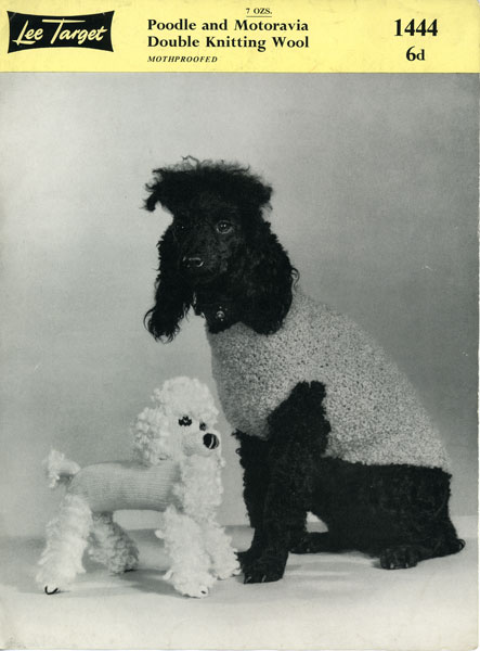 target dog toy. Vintage knitted toy poodle and